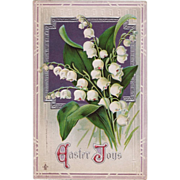SOLD C. 1911 Antique Stecher Easter Postcard Lily of the Valley