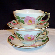 1950's Franciscan Desert Rose Coffee Cups & Saucer Sets