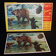 "TUCO Junior Picture Puzzle in Pkg; Bears ""Time to Retreat"""