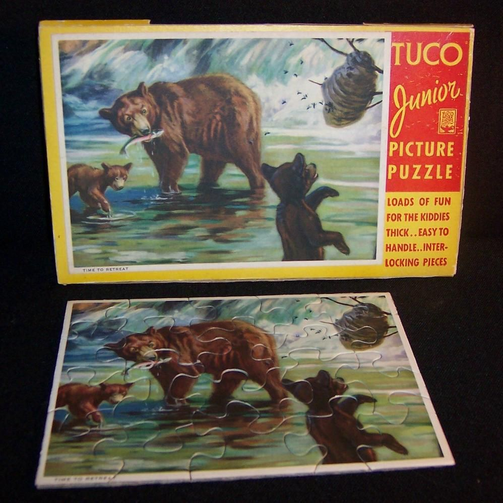 """TUCO Junior Picture Puzzle in Pkg; Bears """"Time to Retreat"""""""