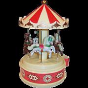 Vintage Carousel Merry Go Round Music Box