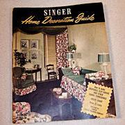 1940's Home Decoration Guide by Singer