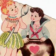 Vintage Unused Love Potion Valentine