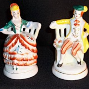 Occupied Japan Porcelain Colonial Couple Figurines