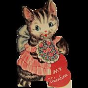 SALE PENDING Vintage Mechanical Kitty Cat Valentine