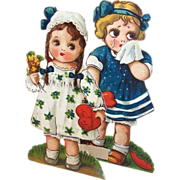 SOLD Made in Germany Stand Up Valentine Googly Eyed Girls