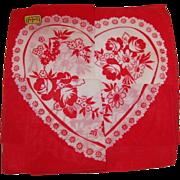 SOLD Vintage Kimball Hidden Heart Valentine Hankie