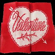 Vintage Hidden Heart & Message Valentine Hankie