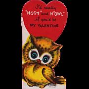 Vintage Wise Hoot Owl Valentine