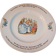 """Excellent Vintage Wedgwood Peter Rabbit Child's or Baby Dinner Plate 9 7/8"""""""
