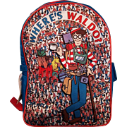Where's Waldo Backpack/Bookbag  NOS