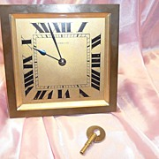 REDUCED Antique French Tiffany & Co Solid Brass Desk Clock