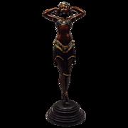 SALE Cold Painted Egyptian Dancer Sculpture cir. 1930