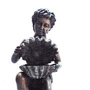 SALE Italian Renaissance Style Bronze Cherub Boy with Shell Fountain