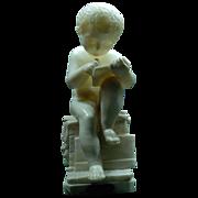 """SALE Alabaster """"Enfant Ecrivant""""  Statue after Anthonio Canova"""
