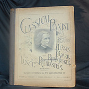 Antique Music Book for Male Voices Classical Pianist Olive Ditson