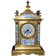 SALE 19th Century French Mantel Porcelaine Clock by Achille Brocot