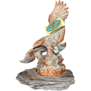 Hand Made Native American Eagle Sculpture