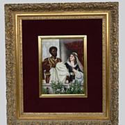 REDUCED 19th Century KPM Porcelain Plaque  Othello