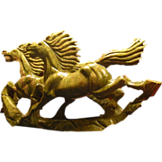 1930s Chinese Nephrite   Jade Handcarved Horse Sculpture