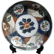 Antique Japanese Imari  Porcelain   Plate cr. 1870