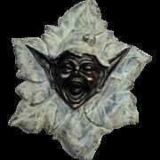 Face Bronze Leprechaun Wall Fountain