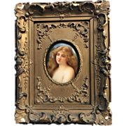 HAND PAINTED19th Century Plaque by Wagner of Solitude after Asti