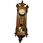 Vienna Regulator Two Weights Wall Clock Signed Remember