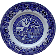 Ridgway Blue Willow Bread Desert Plates North Staffordshire Pottery 1940's