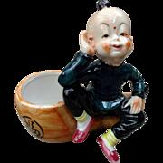 Ceramic China Man Figurine Vase Vintage Home Decor