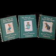 Beatrix Potter Books Tom Kitten Peter Rabbit Johnny Town Mouse