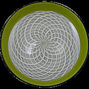 Masterful Reticello Incalmo Bowl Unsigned