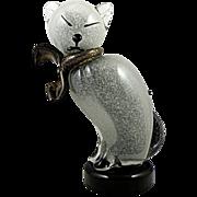 Murano Glass Siamese Cat by Barbini for Camer 1960s, Pulegoso Technique