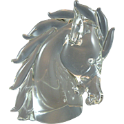 Archimede Seguso Murano Glass Horse Head made for Cartier