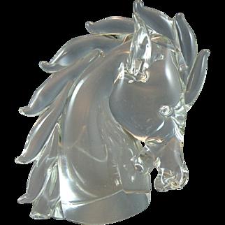 Archimede Seguso Murano Glass Horse Head made for Cartier