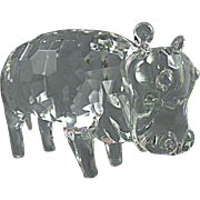 Pino Signoretto Faceted Hippopotamus Sculpture made in Murano, Signed