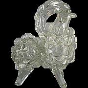 Vintage Bighorn Sheep Figural Art Glass Liquor Bottle