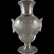 SOLD Salir Murano Engraved Soffiati Vase made for Buccellati