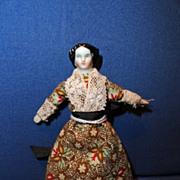 1860 Tiny China Doll House Doll