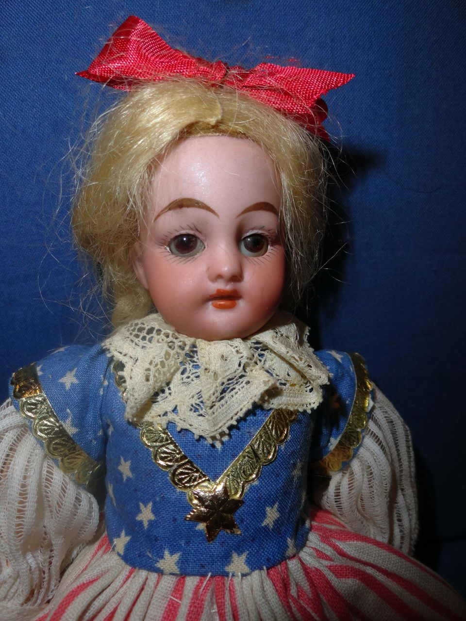 Petite All Original Patriotic Simon Halbig Doll