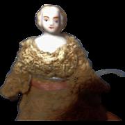Tiny Blond China doll house doll 1860