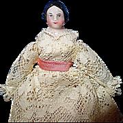 Tiny 1860 Covered Wagon China Doll