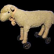 Steiff Lamb on Wheels