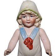 All Bisque Bonnet Bathing Doll