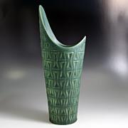 Michael Andersen & Son Green Vase w/Asymmetrical Top
