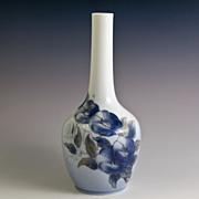 Royal Copenhagen Art Nouveau Vase with Bindweed/Morning Glory Flowers