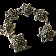 Sterling silver- Grape motif- Bracelet