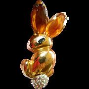 """Fabulous-""""Big Bunny-Rabbit"""" pin- 1930's-Book piece"""