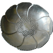 Hand wrought- Aluminum -bowl