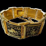Exceptional-etched Damascene- bracelet